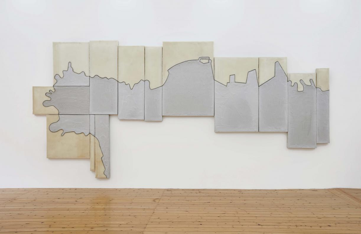 The Beirut Coast, 2019, Concrete, beeswax, & copper on wood, 267.9 x 569.6 cm, Ed. 3 + 2 AP