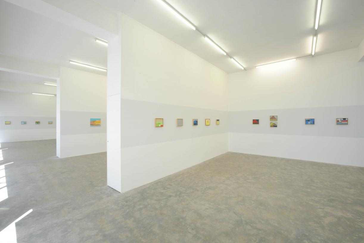 Etel Adnan, Exhibition view, 2010