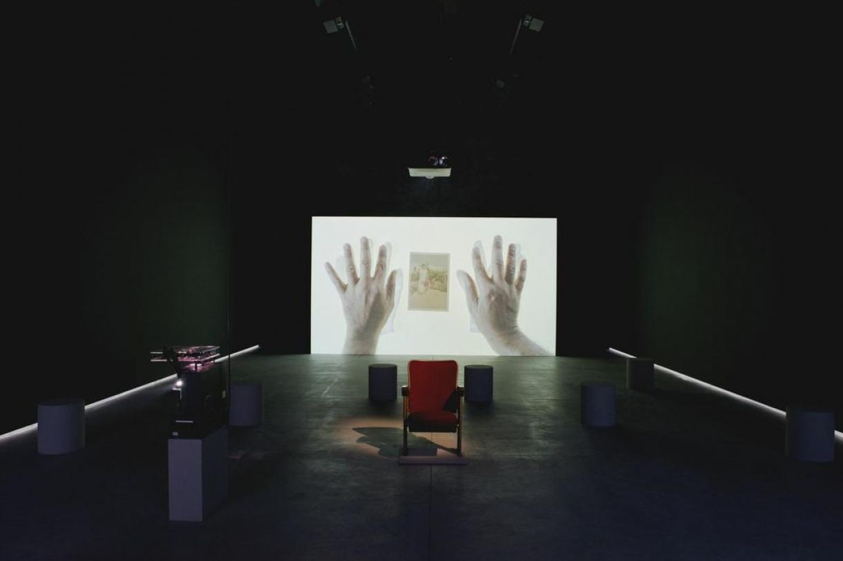 Letter to a Refusing Pilot, 2013, Film and video installation. Installation view Venice Biennale, 2013