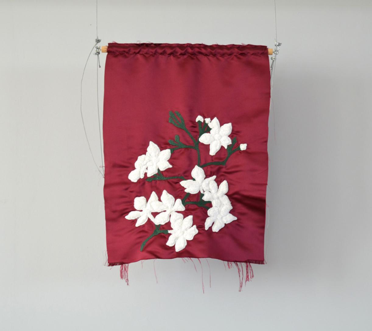 Blazon: Furn el Hayek, Yasmine, 2015, Embroidery and applique on textile, 66 x 49 cm, Ed. 3 + 2 AP