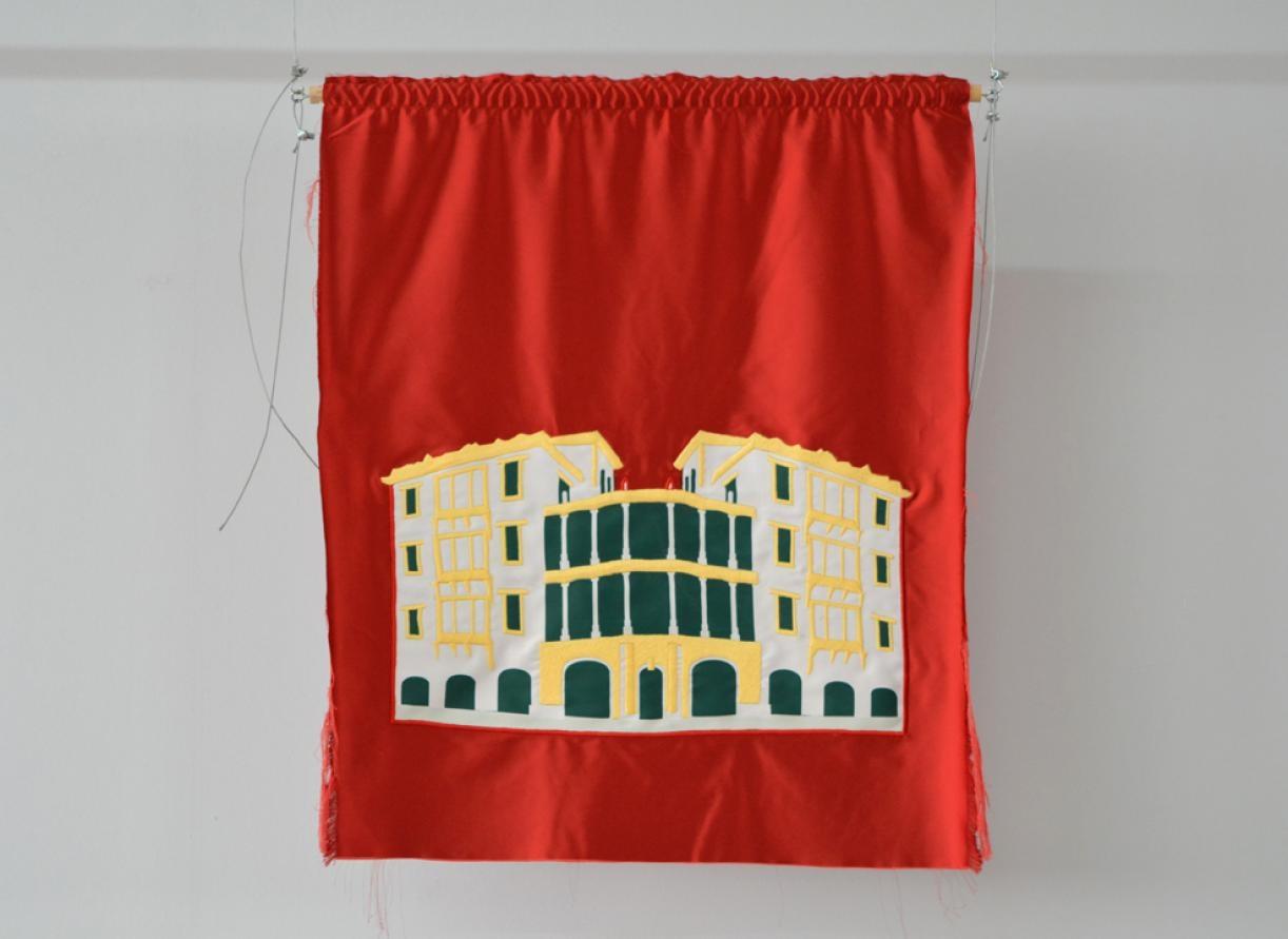 Blazon: Yasouiyeh, Beit Barakat, 2015, Embroidery and applique on textile, 85 x 72 cm, Ed. 3 + 2 AP