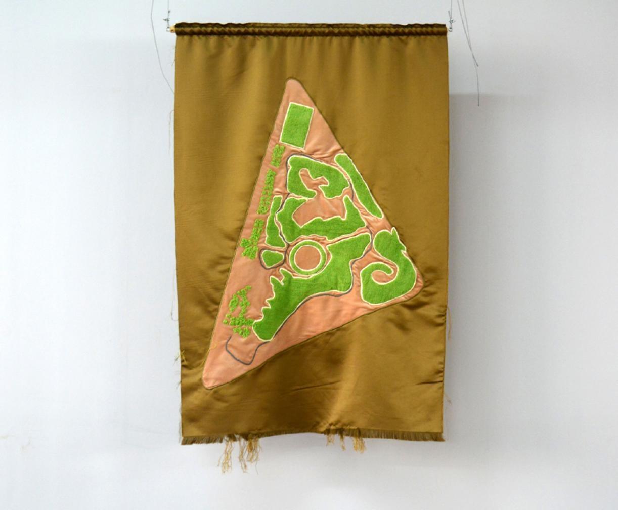 Blazon: Parc, Horsh Beirut, 2015, Embroidery and applique on textile,127 x 88 cm, Ed. 3 + 2 AP