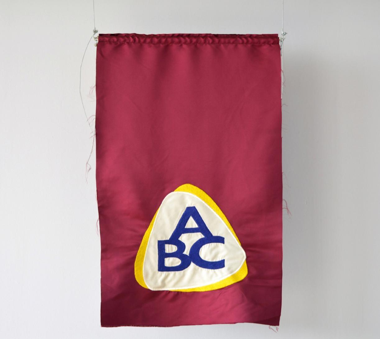 Blazon: Serail, ABC Logo, 2015, Embroidery and applique on textile, 98 x 63.5 cm, Ed. 3 + 2 AP