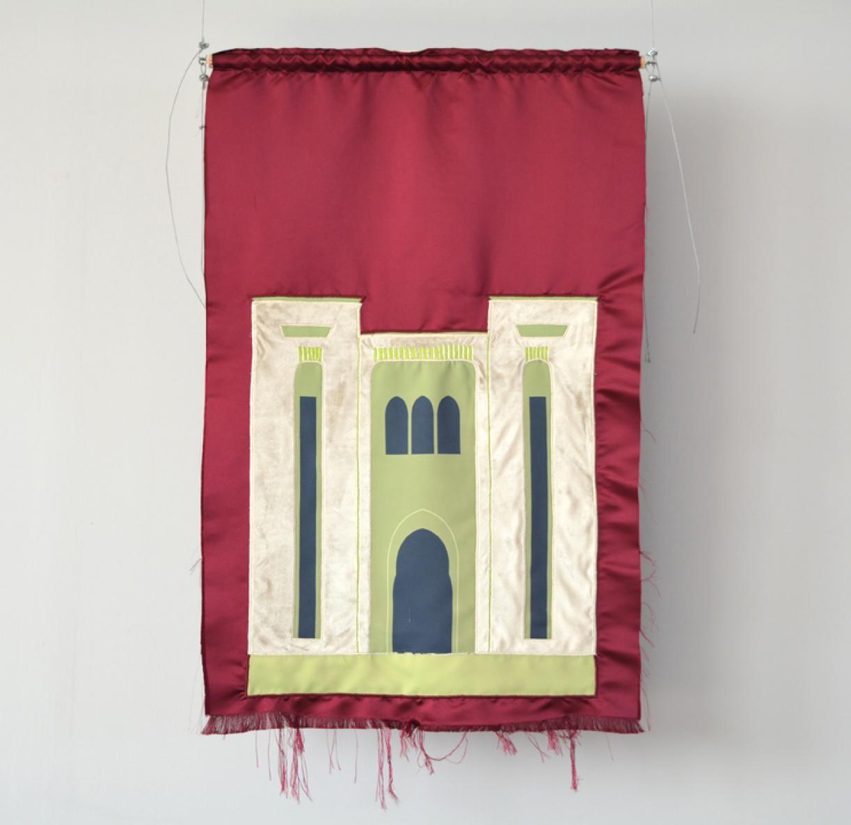Blazon: Nijmeh, Parliament, 2015, Embroidery and applique on textile, 112 x 74 cm, Ed. 3 + 2 AP
