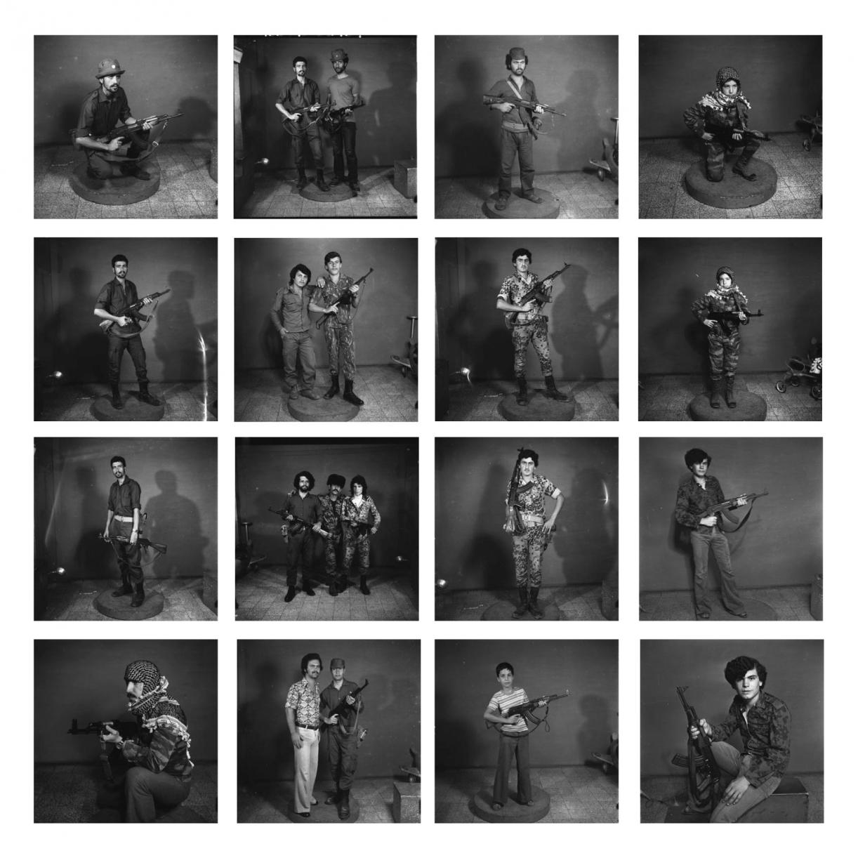 After they joined Military Struggle, Saida early 1970s, 2006, Set of 16 Silver prints, framed, 30 x 30 cm each
