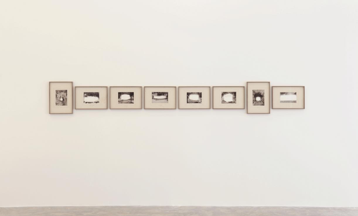 An Extraordinary Event, 2018, 8 inkjet prints, 30 x 43 cm each. Installation view Sfeir-Semler Gallery, Beirut