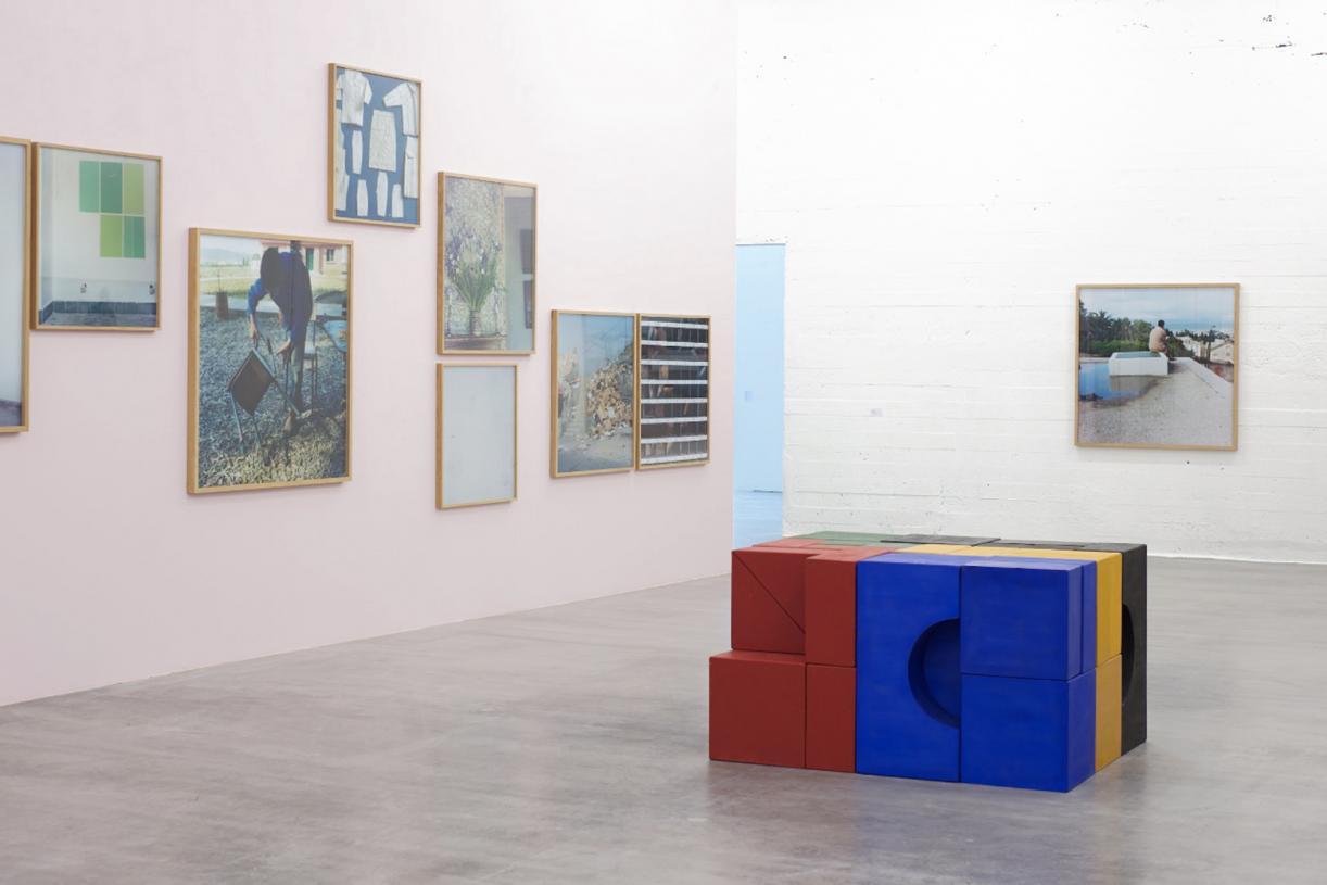 Lyautey Unit Blocks, 2010, wood, paint, dimensions variable. Installation view WIELS, 2011