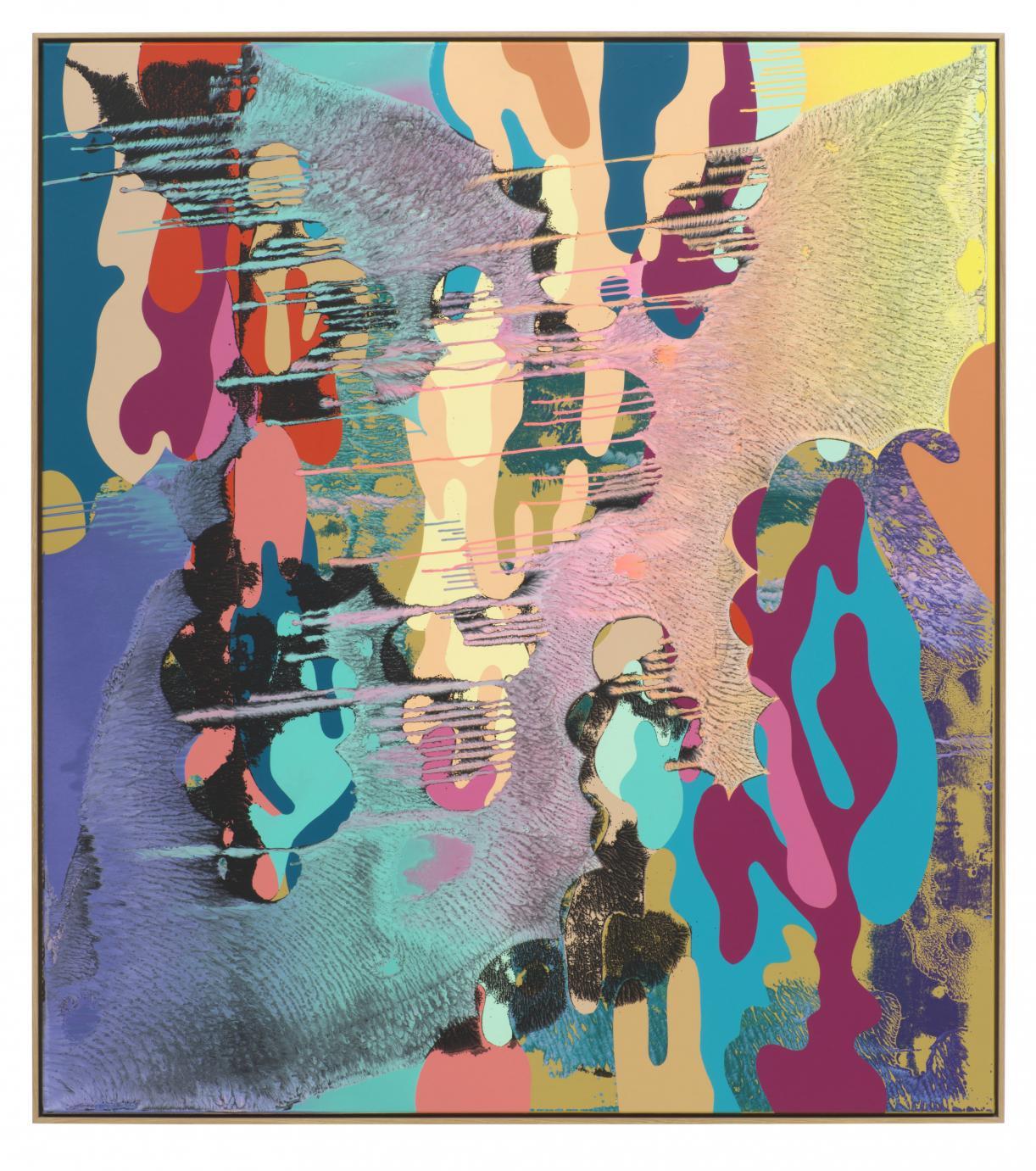 Christine Streuli, Rebel_Caroline, 2018, Mixed media on canvas, 183,5 x 163 cm