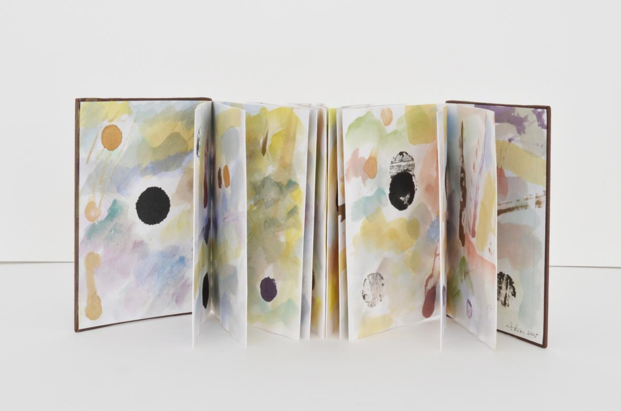 Untitled, 2005, Folded leporello book, watercolor and ink on paper, closed 18 x 12 cm, 24 pages, Max extension 280 cm