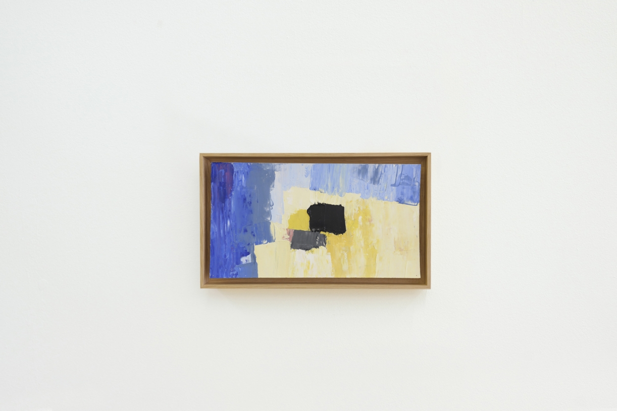 Untitled, 1961/1962, Oil on canvas, 18.5 x 33.5 cm