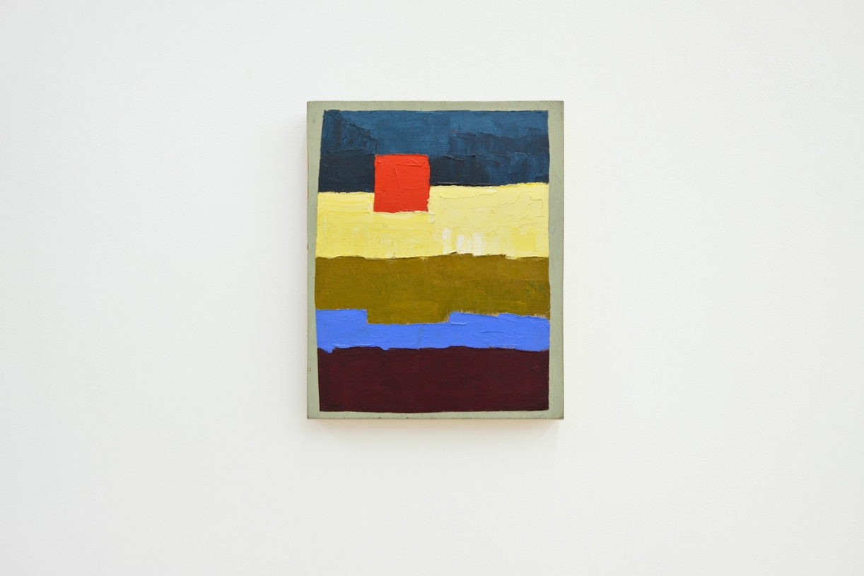 Untitled, 1961/1962, Oil on canvas mounted on painted wood, 38 x 30.5 cm
