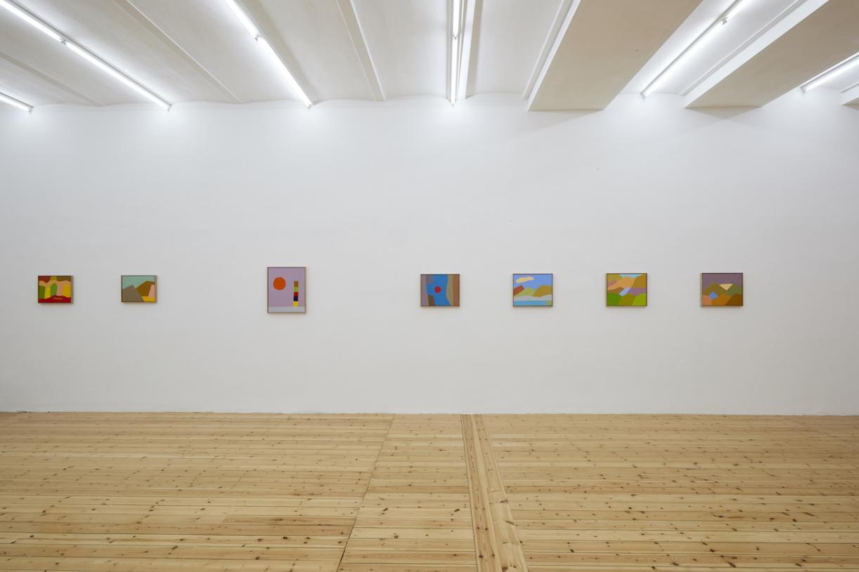 Etel Adnan, 2016, Exhibition view, Sfeir-Semler Gallery Hamburg