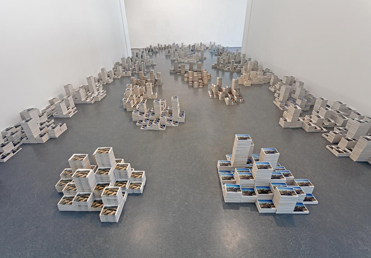 Another Geography, 2009 - 2012, 50 postcard boxes and 7000 postcards, Variable dimensions, Installation view, Kunsthaus Hamburg