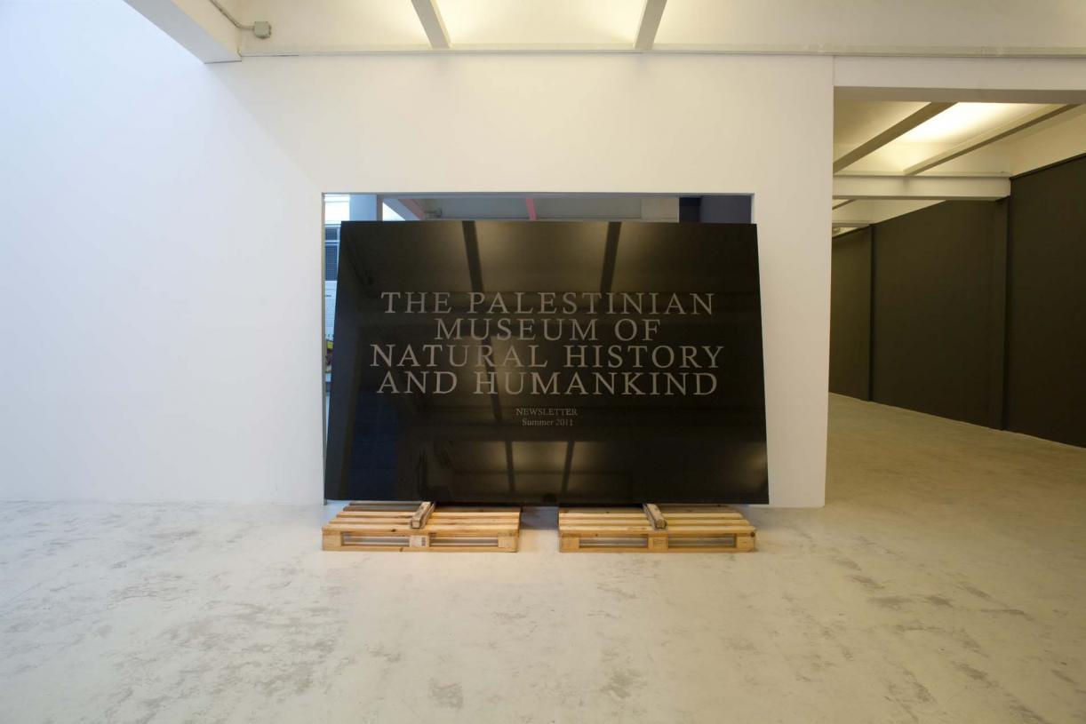 Act I: Carving, 2012, Granite, wood and metal; 120 × 220 × 320 cm