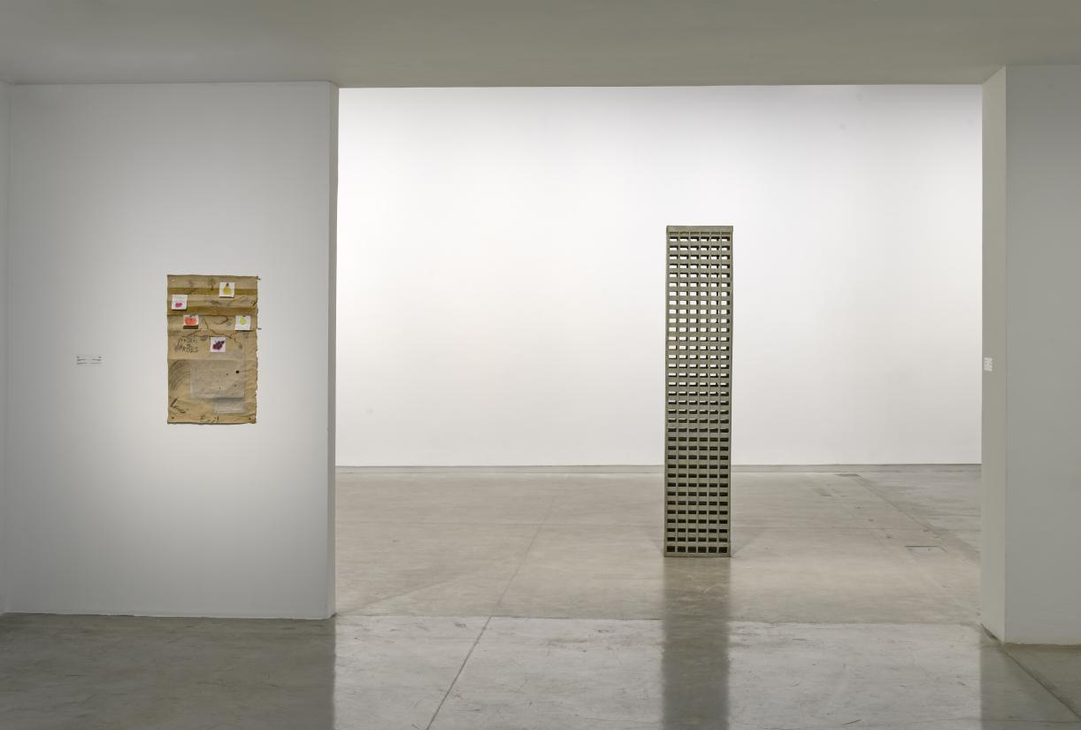 Marwan Rechmaoui, Slanted Squares, 2019, Exhibition view, Sharjah Art Foundation. Photo SAF