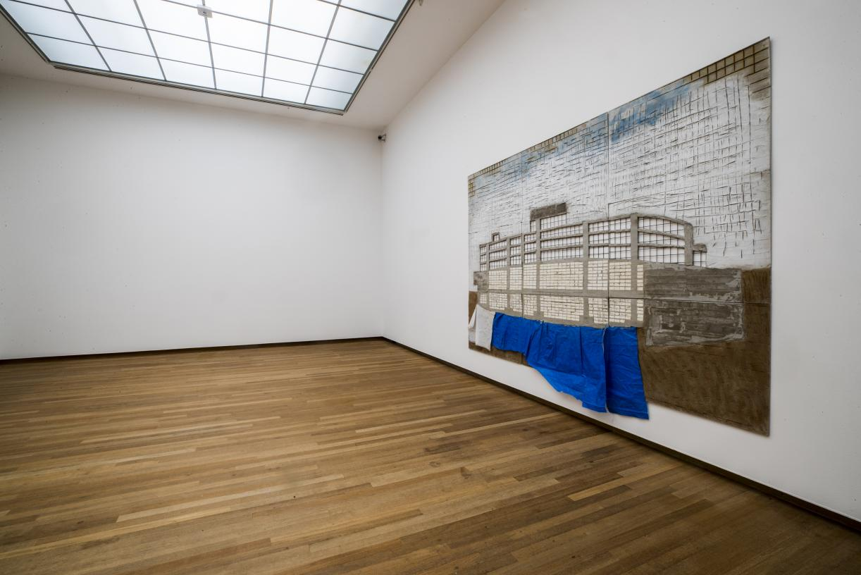 Marwan Rechmaoui, Slanted Squares, 2019, Exhibition view, BACA Bonnefanten, Maastricht. © Harry Heuts