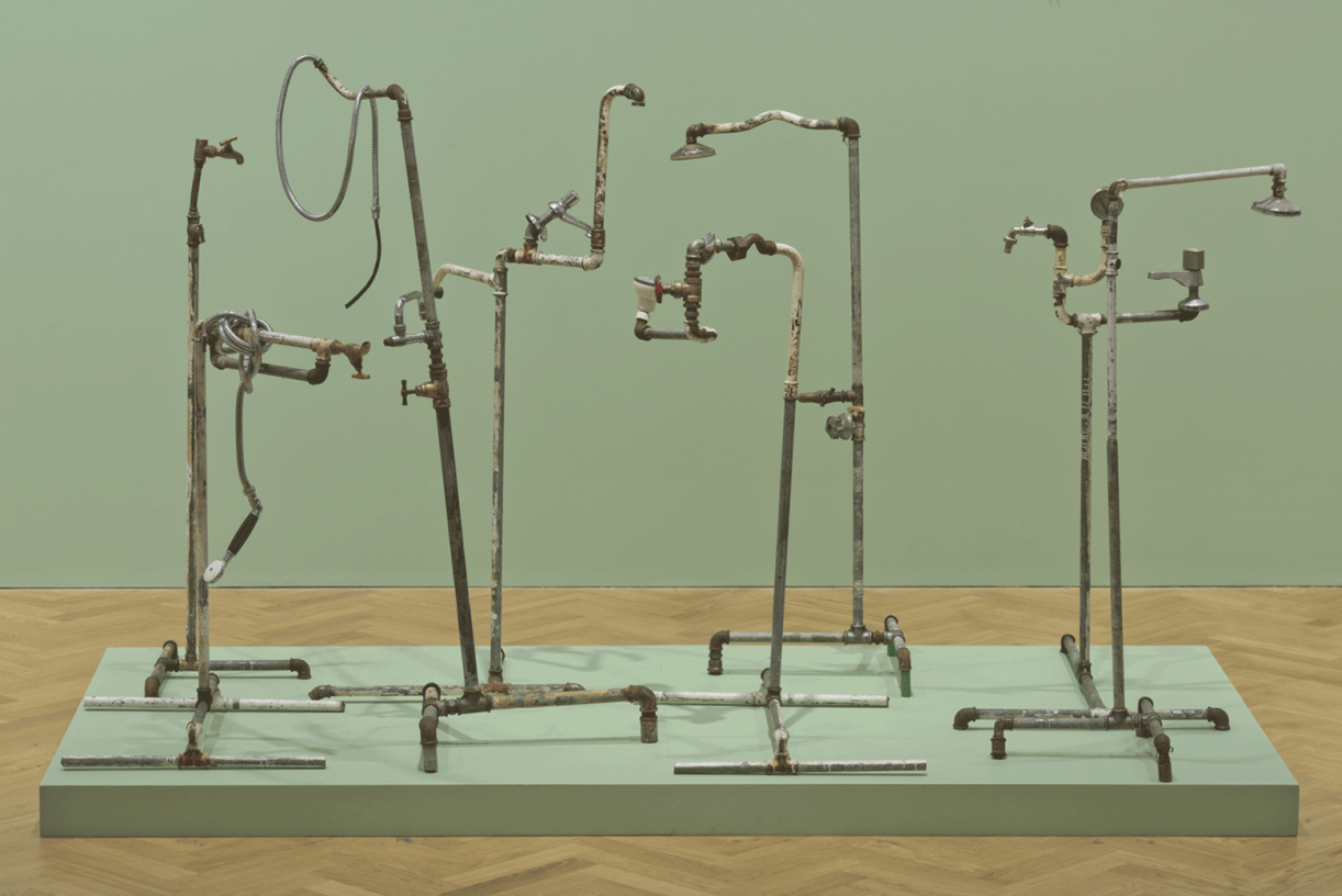 Plumber Assemblage, 2015, mixed media, 150 x 230 x 125