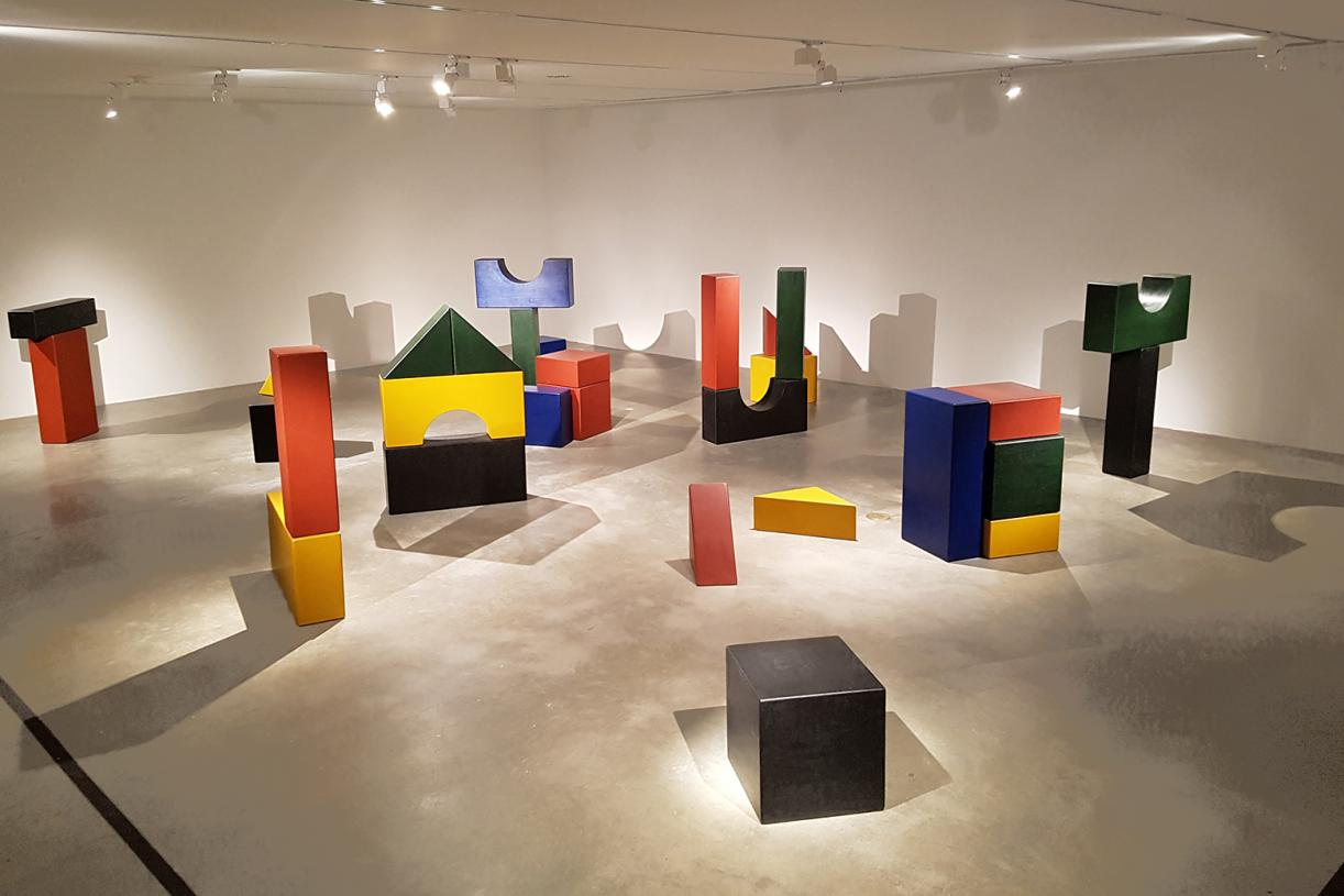 Lyautey Unit Blocks, 2010, wood, paint, dimensions variable. Installation view The Met, 2016