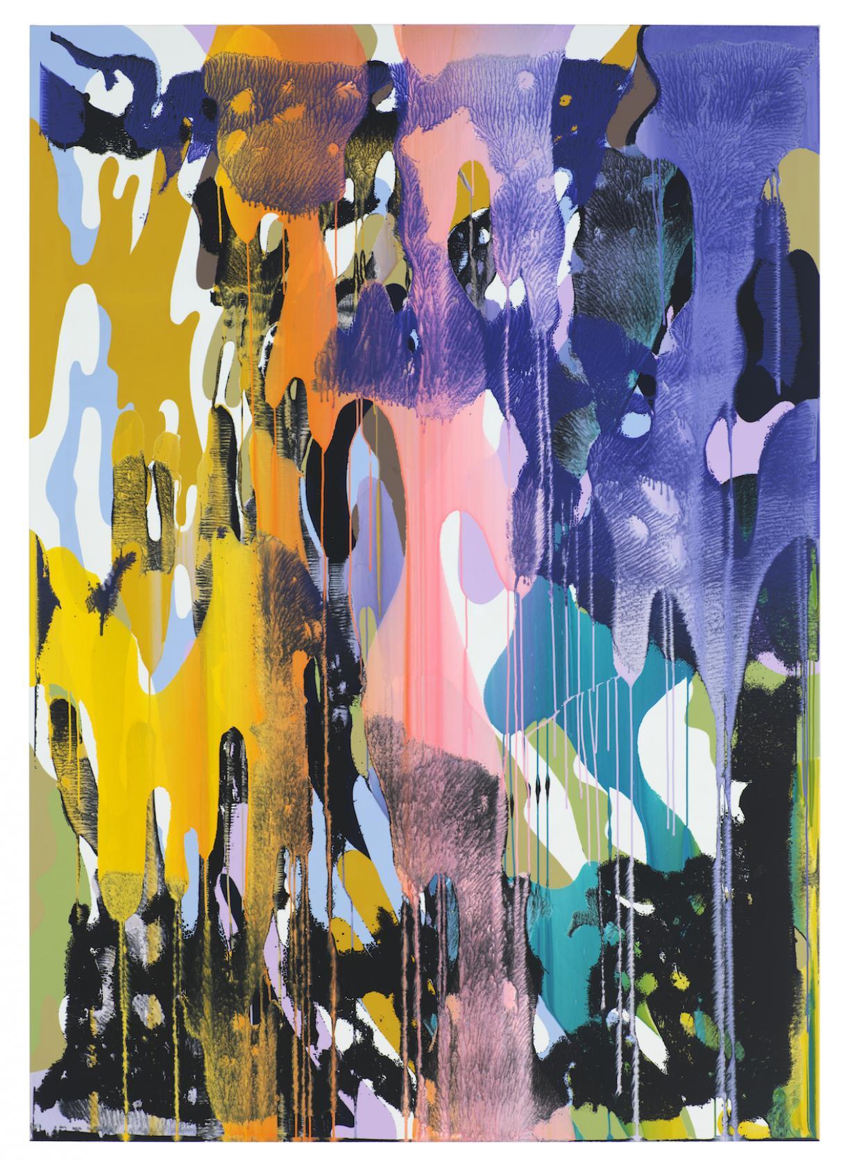 Christine Streuli, Warainting_003, 2016/17, Mixed media on canvas, 243,5 x 173 cm