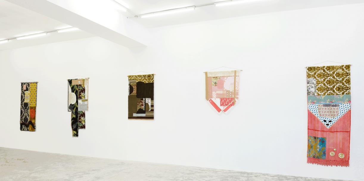 Majdoub Appliqué Flags, 2016. Installation view Sfeir-Semler Gallery, Beirut, 2016