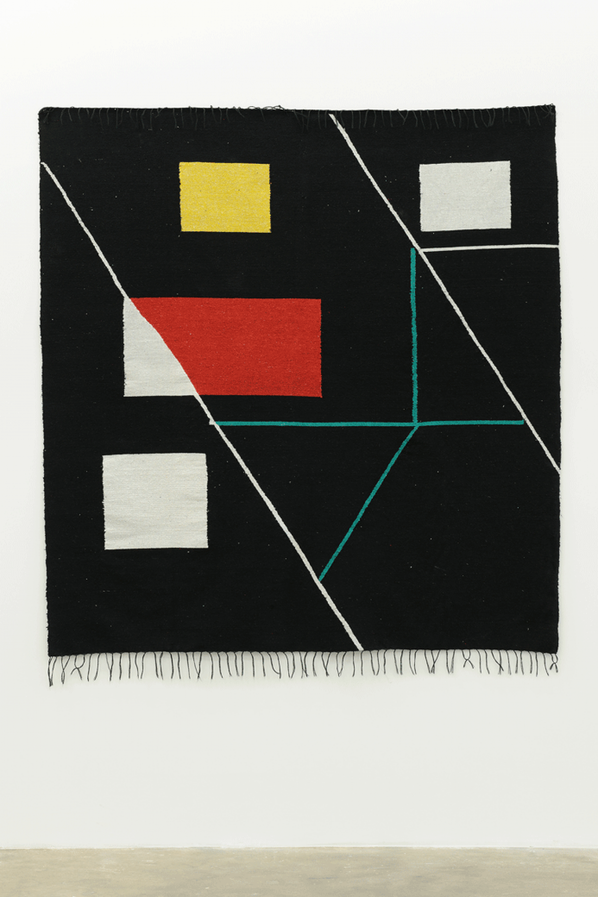 Untitled (carpet handmade in collaboration with Darna's women weaving workshop), 2015, Fabric, 172 x 195 cm