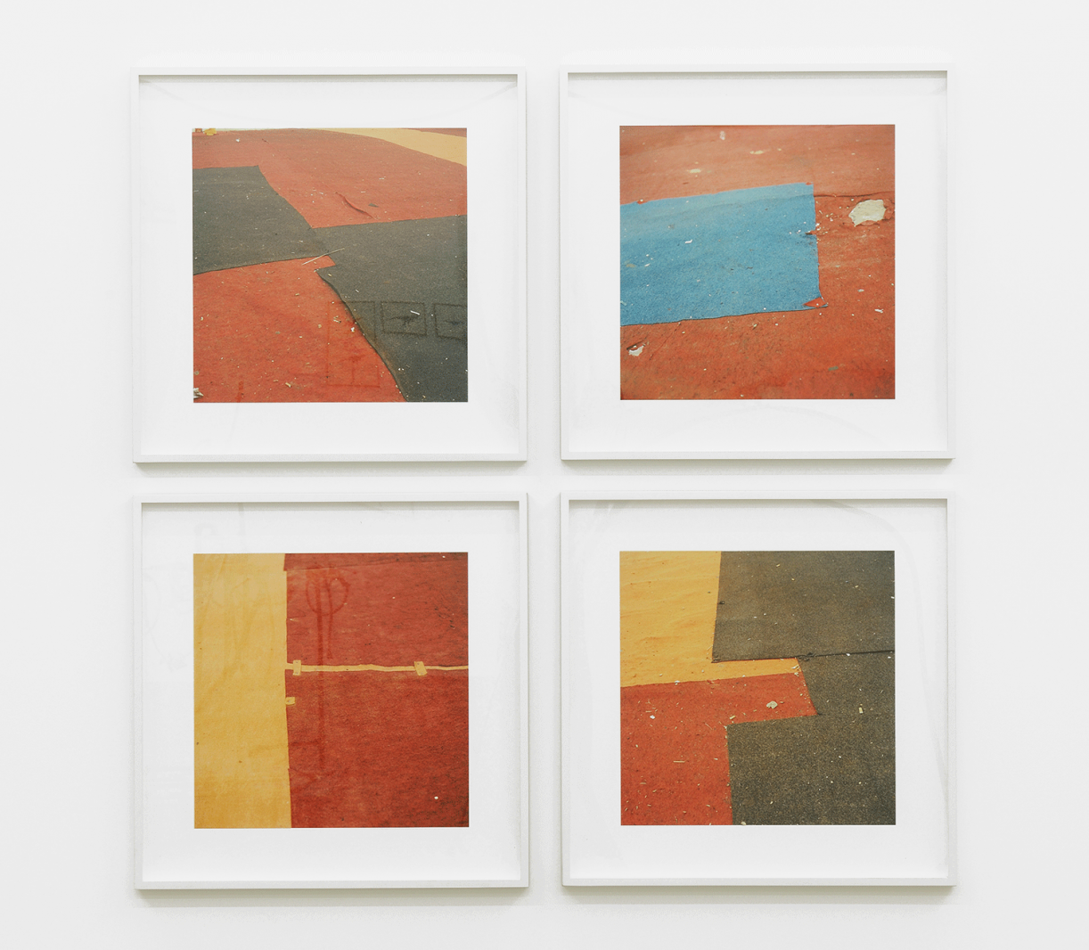 Untitled (felt circus flooring, Tangier), 2013-2015, chromogenic, prints, 30 x 30 cm / 50 x 50 cm each