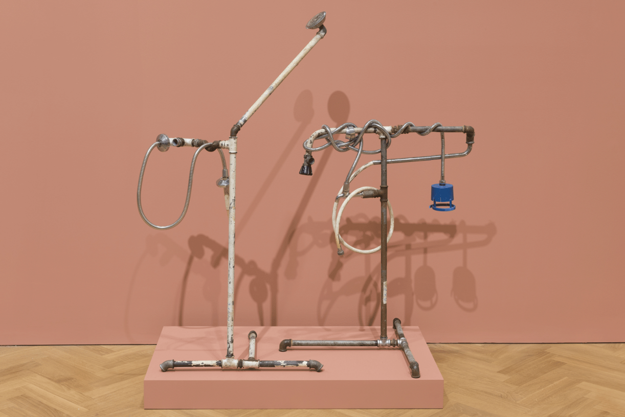 Plumber Assemblage, 2015, mixed media, 136 x 100 x 60 cm