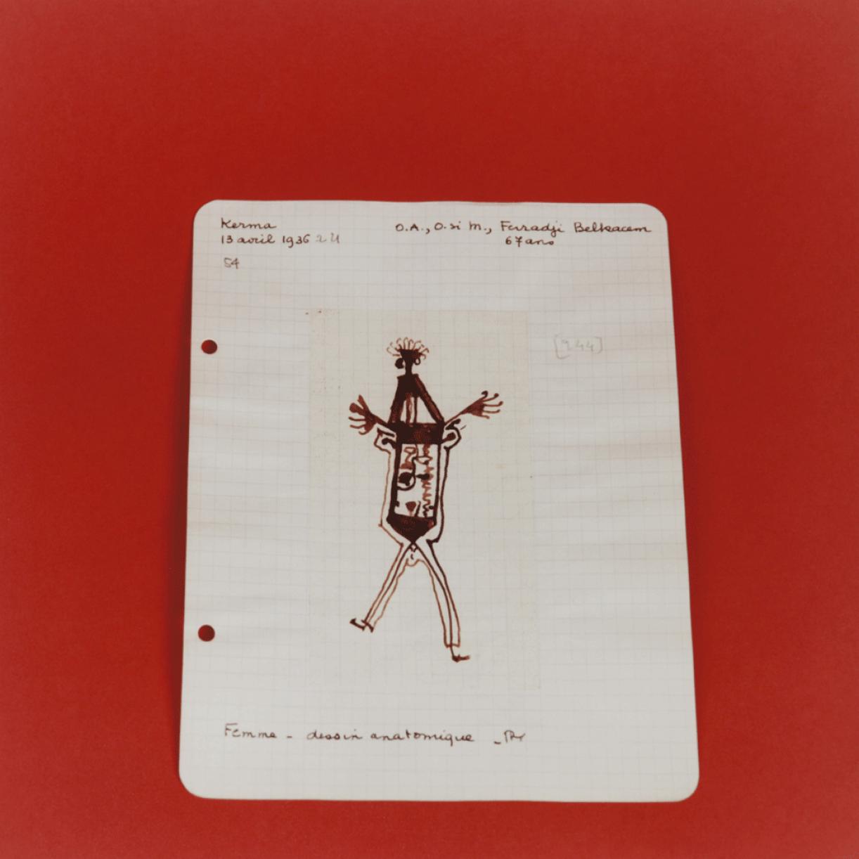 Untitled (Album de dessins indigènes series (album of North African drawings)), 2014-2015, chromogenic prints, 40 x 40 cm