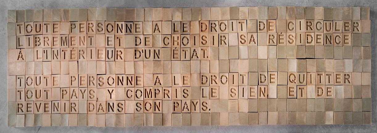 L'homme ne vit pas seulement de pain (Man does not live on bread alone), 2012, Soap, 81 x 253 x 4 cm, base: 283.5 x 111 x 10 cm, Ed. 5 + 2 AP