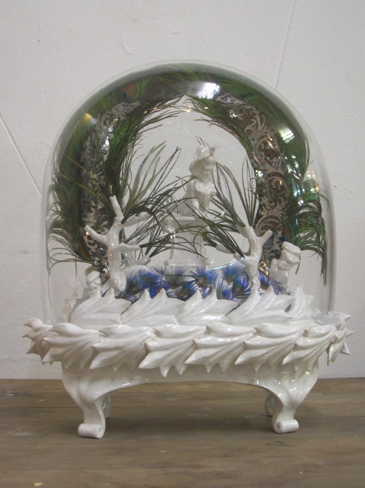 Moritz Altmann, Laurende Spynx, 2008, mixed media
