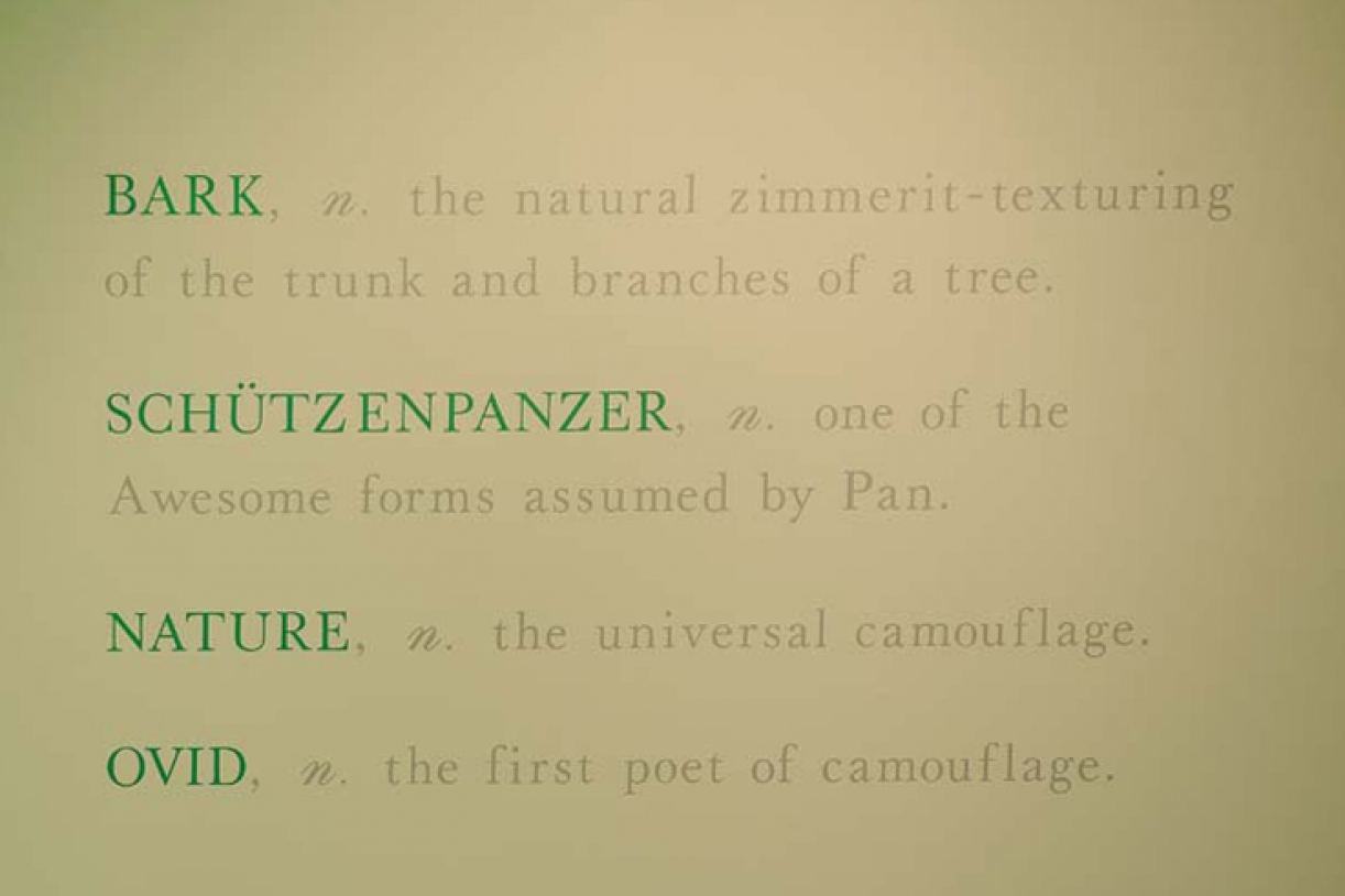 Bark, Schutzenpanzer, Nature, and Ovid, 70s, Wall painting, Dimensions variable, Unique