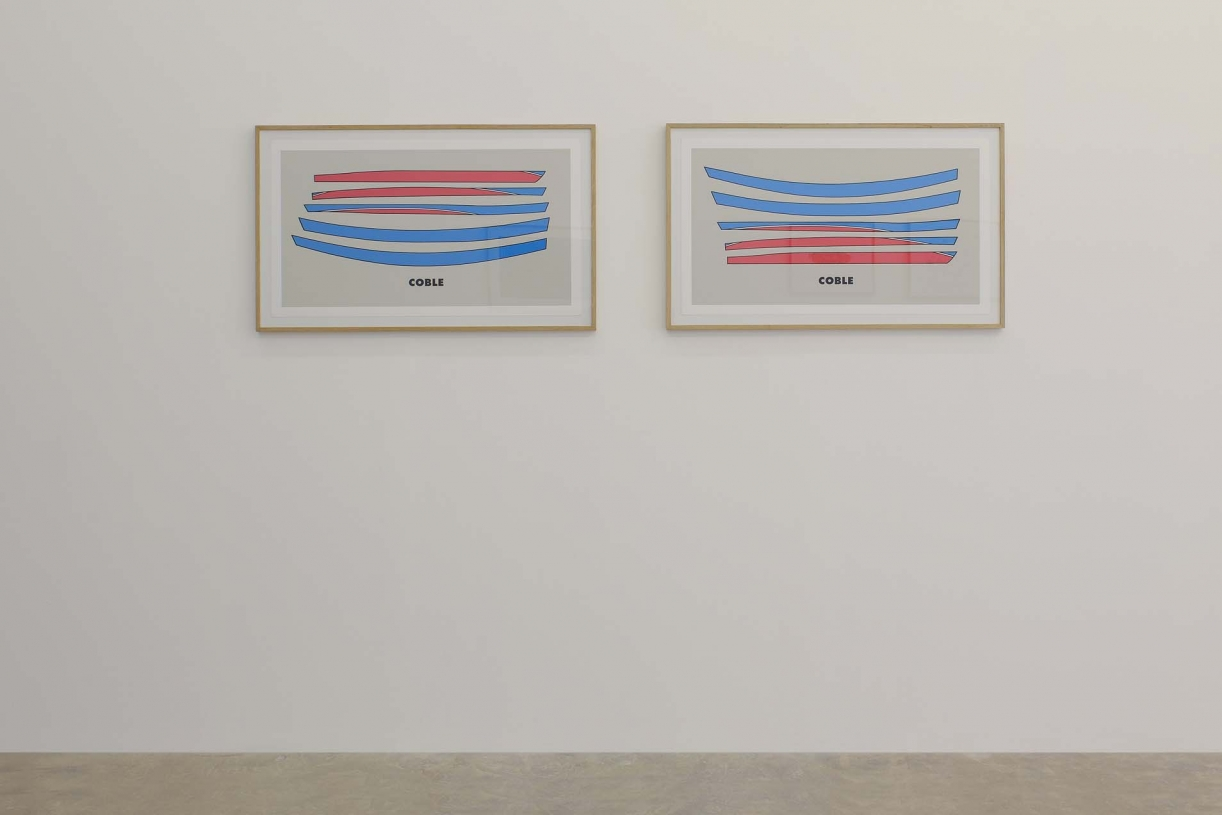 Coble 1 and 2, 1998 with Gary Hincks, Silkscreen print, 50 x 88 cm each, Ed. 150