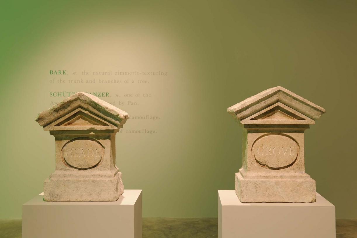 Glade/Grove, 2005, 8 with Nicholas Sloan, Stones (19th Century), 52.1 x 41 x 25.1 cm each, Unique