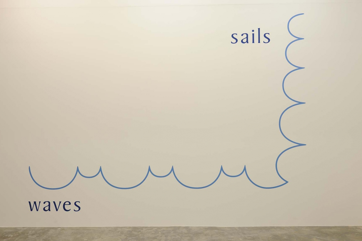 Sails/Waves, 1971 (2004 shown in Chicago), Wall painting, Dimensions variable, Unique