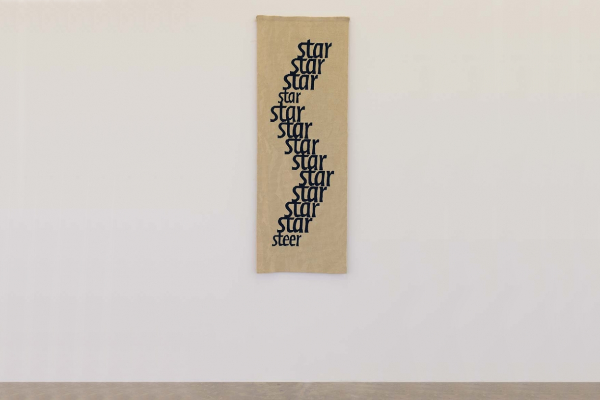 Star/Steer, 1989 with Michael Harvey and Joanna Soroka, Tapestry, wool, 163 x 38 cm, Unique
