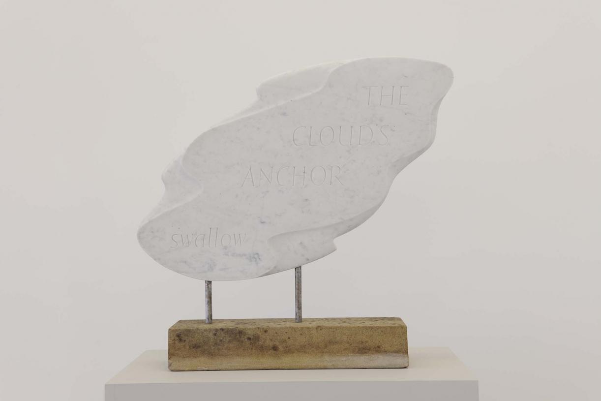 The Cloud's Anchor, 1968, Marble, metal, 60 x 59 x 11 cm, Unique