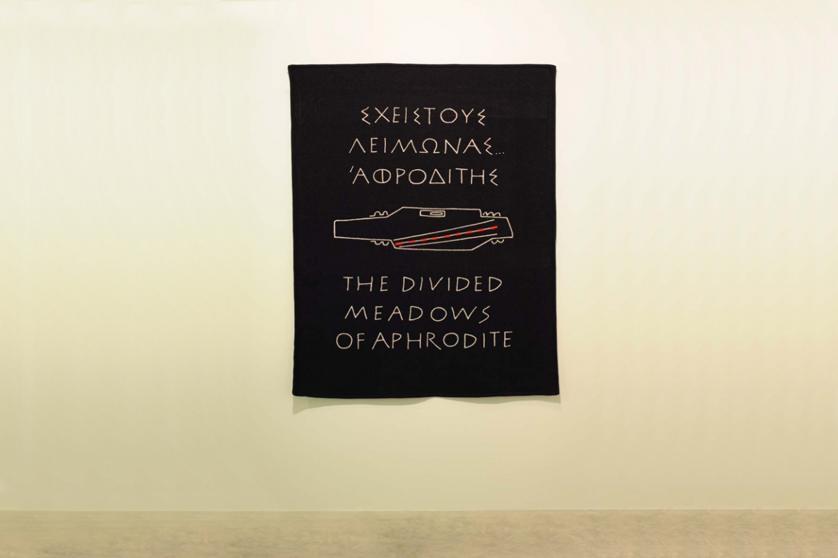 The Divided Meadows of Aphrodite, 2001, Blanket, wool, cashmere, 139 x 173.5 cm, Ed. 20