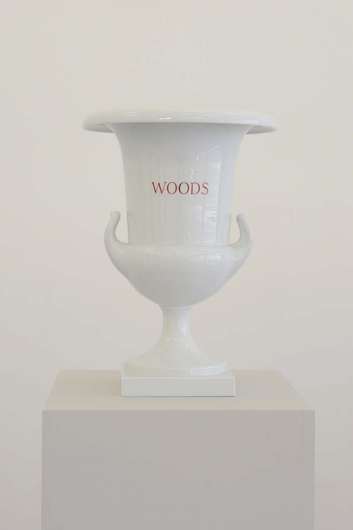 Winds, Woods, Streams, Seas (design after Carl Friedrich Riese, 1799), 2003, 4 Porcelain vases, 43 x 30 cm each, Unique, Woods