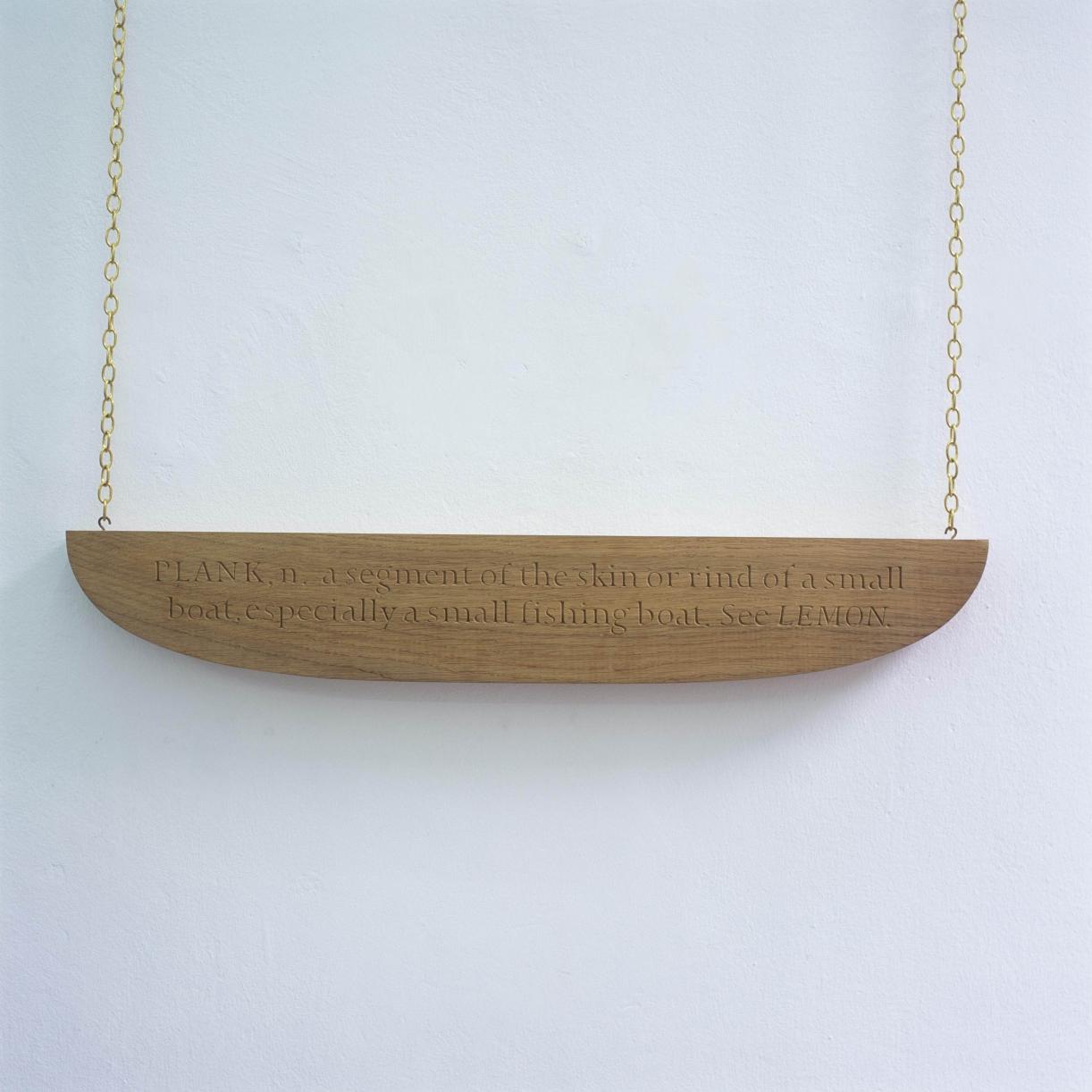 PLANK, n., 1995 with Caroline Webb, Wood, 71 x 30 x 2 cm