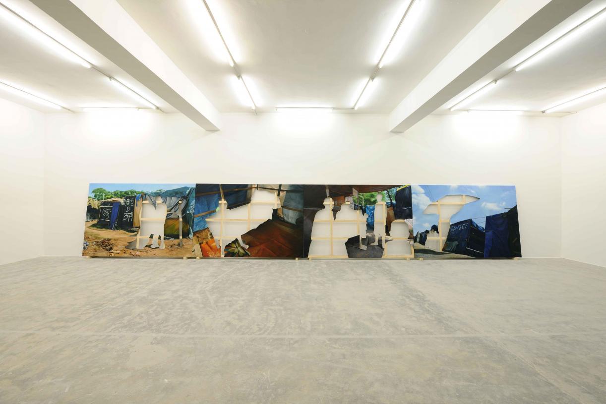 Acampamento Vila Nova Palestina, 2017, 4 Oil on canvas, 1200 x 800 cm all, 200 x 300 cm each, Ed. 3 + 2 AP