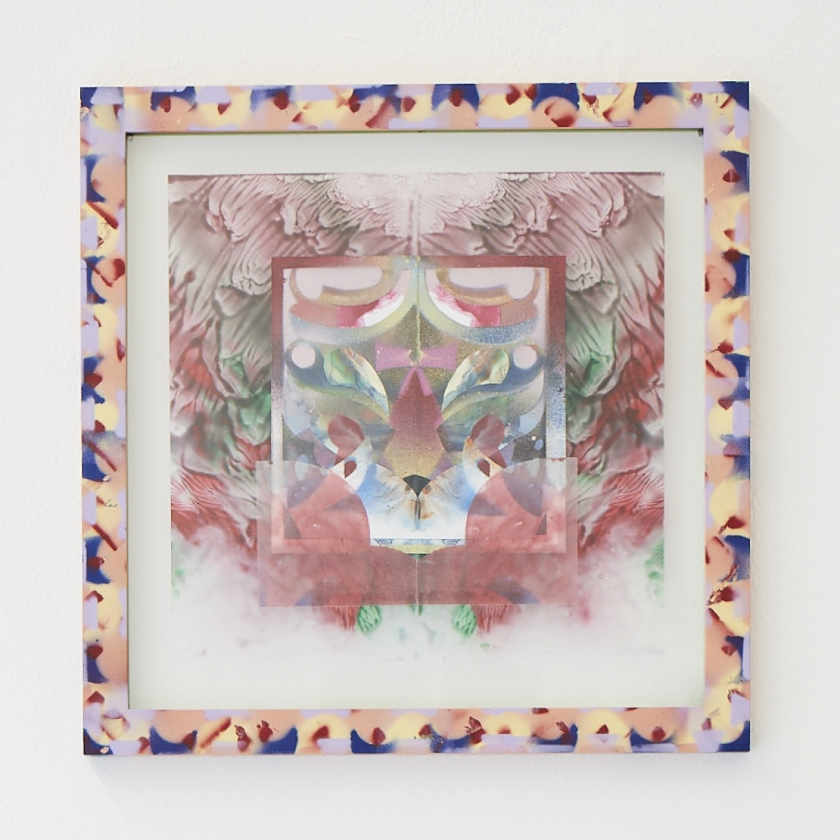 Moritz Altmann, eda, 2017, mixed media on paper and transparency, sprayed frame, 40,5 x 40,5 cm