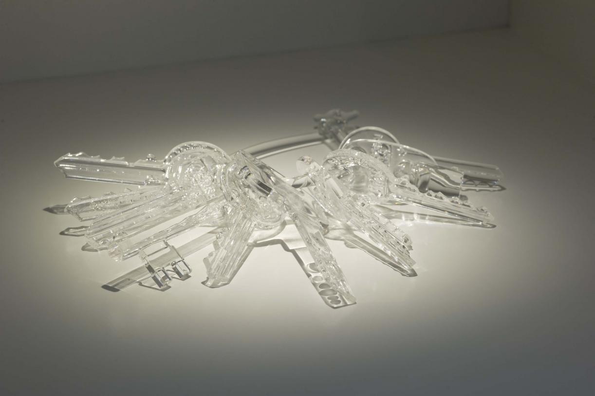 Untitled (Keys), 2014  Ten keys original sizes, crystal glass  15 x 12 x 2 cm, Ed. 8 + 2 AP