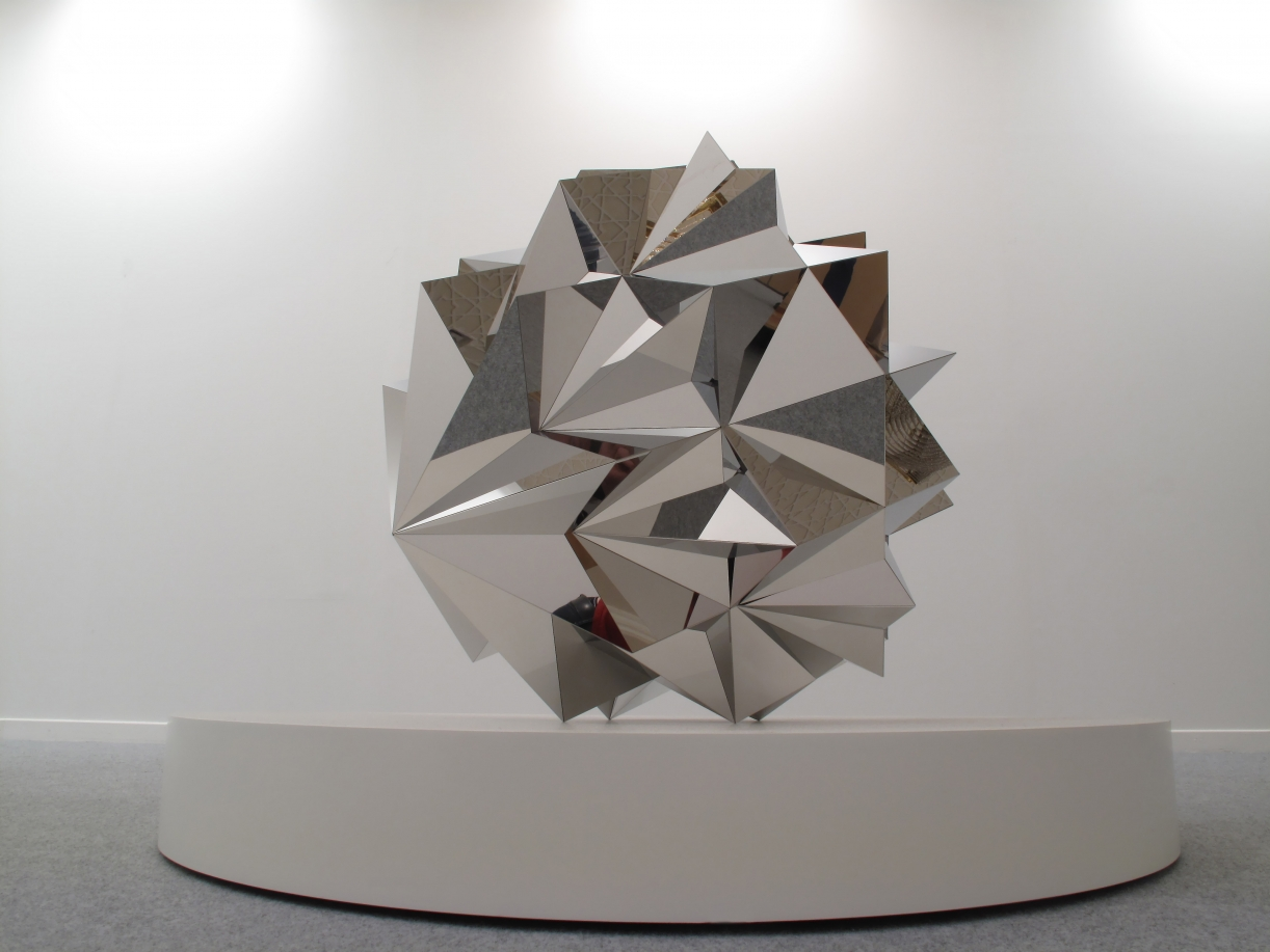 Timo Nasseri, Parsec #15, 2009, Stainless steel, 105 x 95 x 95 cm, Edition 3 + 1 AP