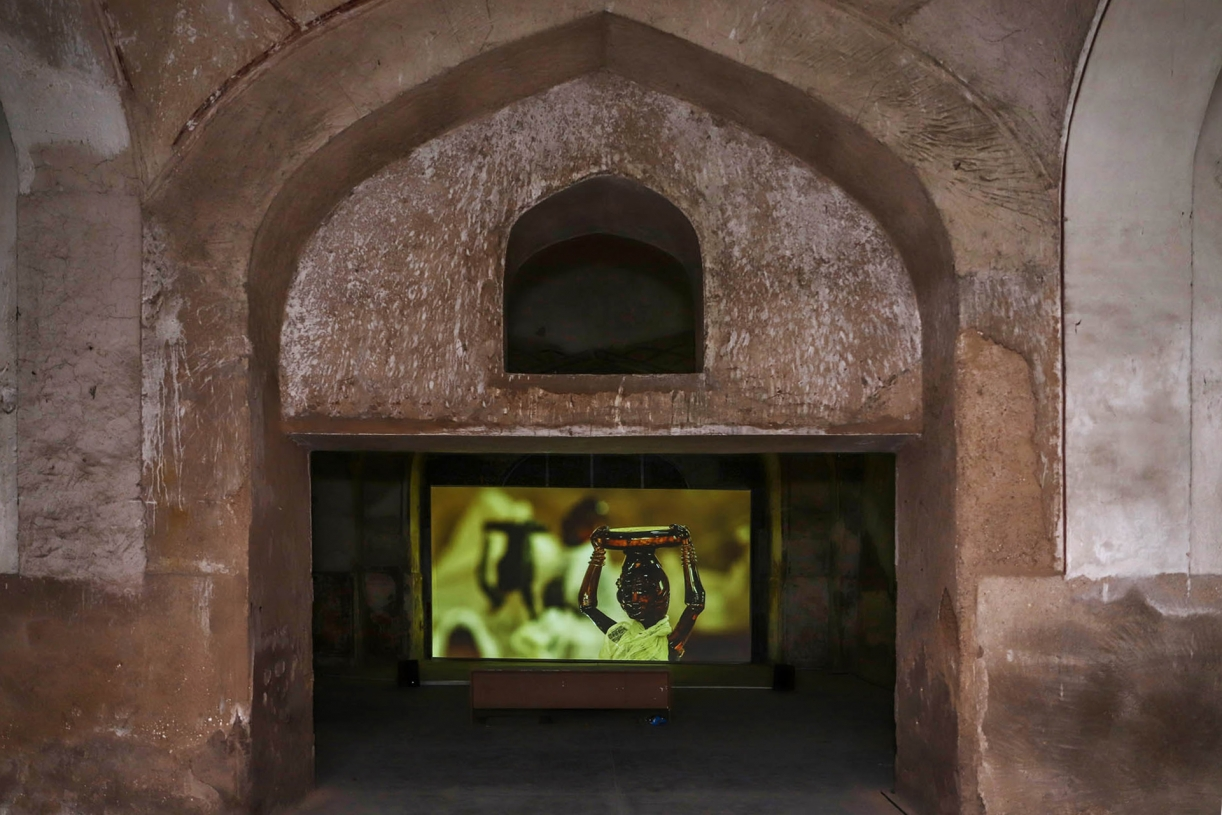 Cabaret Crusades: The Horror Show File (2010), The Path to Cairo (2012). Film and site-specific installation, Exhibition views, Lahore Biennale 2020