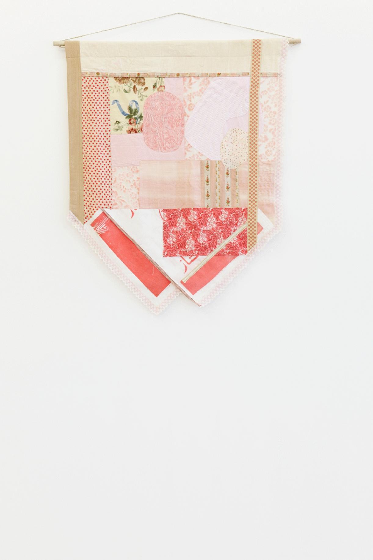Majdoub Appliqué Flag #48 (La pelure est à présent un produit de luxe), 2016, 95 x 119 cm