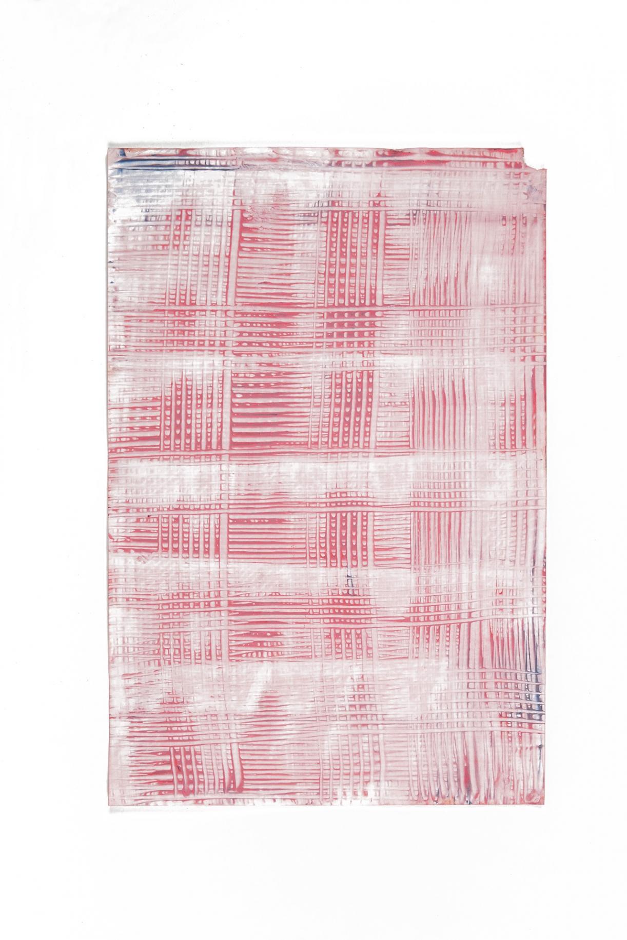 Paste Paper, Painting, 2019, paint on paper, 45 x 30.5 cm
