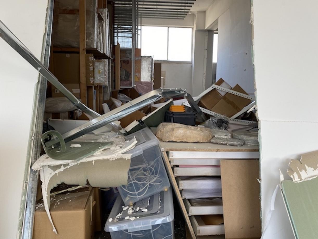 Sfeir-Semler Gallery after the blast