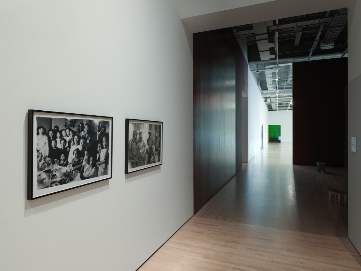 Dineo Seshee Bopape, we can't afford not to mourn, 2019, Exhibition view, SOFT POWER, San Francisco Museum of Modern Art, 2019.