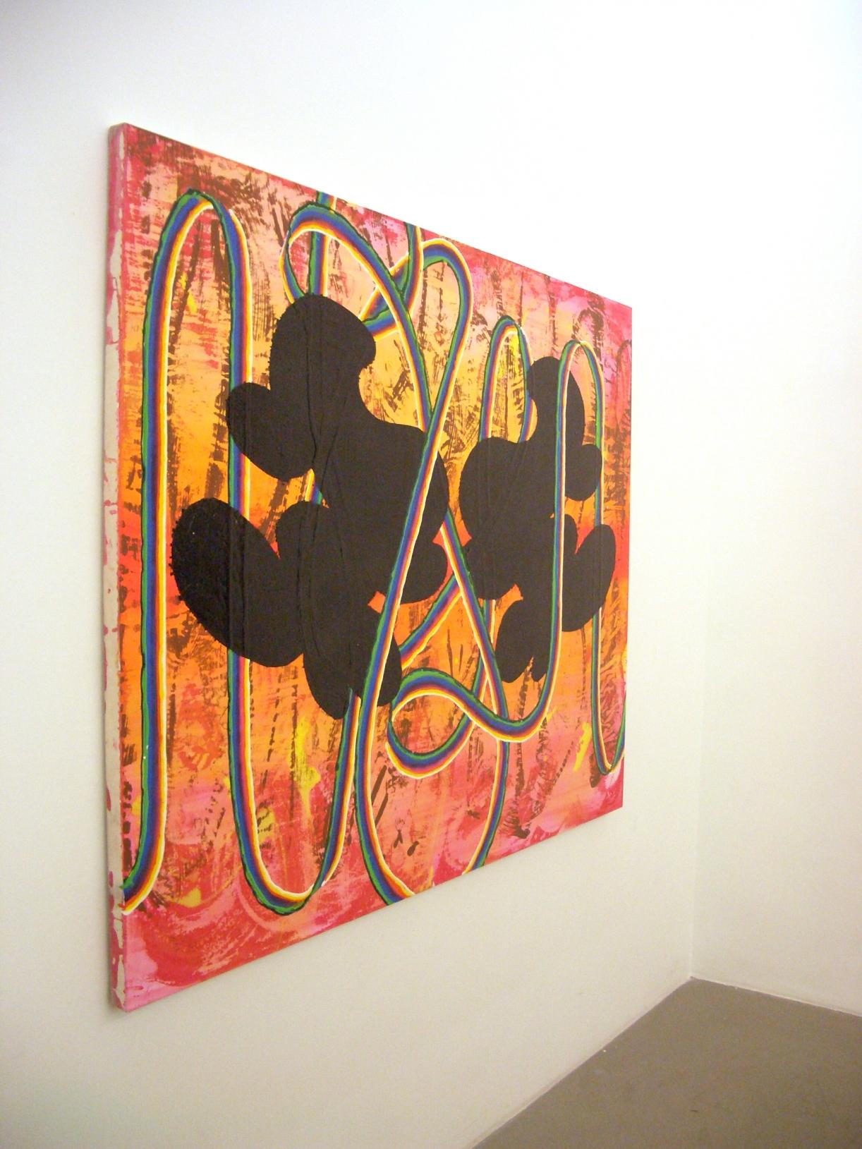 Christine Streuli, Dicht dran, Exhibition view, Hamburg, 2005