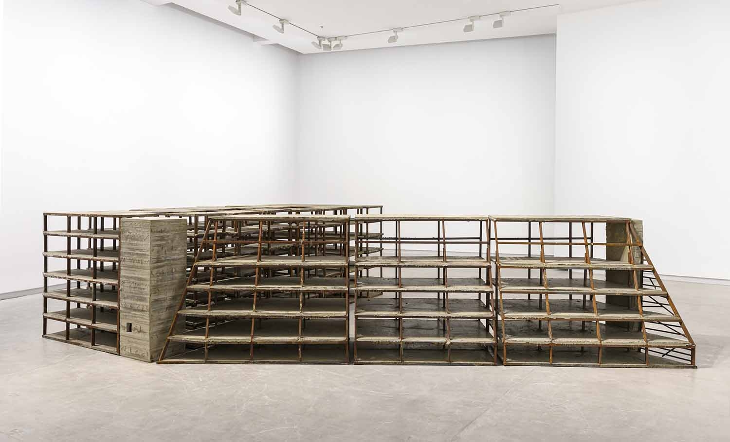 The Coop, 2019, Concrete and metal, 560 x 200 x 120 cm, Ed. 5 + 1 AP, Installation view Sharjah Art Foundation, 2019. ©MR, Photo SAF